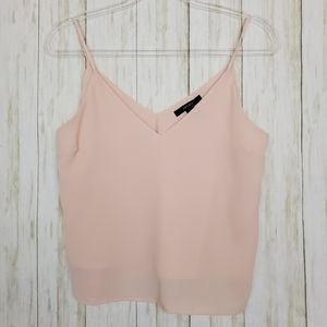 Forever21 S pale pink blush v neck strappy tank